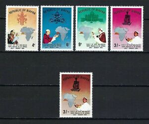 Biafra 1969 Sc#27-30a  Pope Paul VI's Visit to Africa  MNH Set $16.50