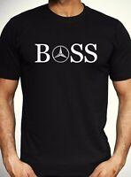 Mercedes Benz Boss Logo T shirt Car F1 Fashion Novelty Tee Mens Gift Top S - XL