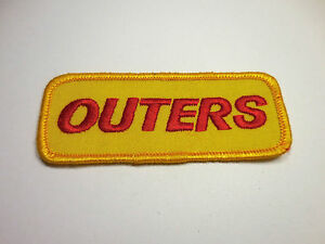 Vintage 1980's Outers Embroidered Sewn Iron On Patch Reloading Shooting Hunting