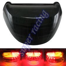 Black Led Brake Turn Signal Tail Light Integrated For Kawasaki ZX12R 2000-2005