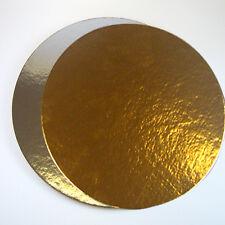 9er Set Cake Board rund 30cmx1mm silberfarben/goldfarben Kuchenplatte aus Karton