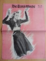 DIE TEXTIL-WOCHE 10 - 7. März 1942 Mode Werbung