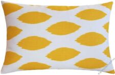 """Mustard Yellow/White Chipper Decorative Throw Pillow Cover/Cushion Cover 12x20"""""""