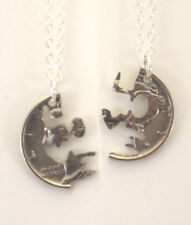 Mercury Dime Love Cut Pair, Cut-Out Coin Jewelry, Necklace/Pendant