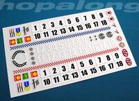 Scalextric/Slot Car 1/32 Scale Sticker Decals