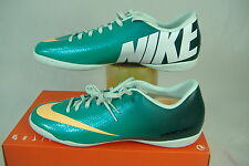 New Womens 11.5 NIKE Mercurial Victory 4 IC Atomic Teal Run Shoes $70 553633-330