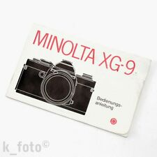 Minolta XG-9 Bedienungsanleitung * manual