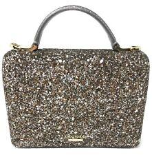 NWT Kate Spade Laurel Way Glitter Maisie Gunmetal Crossbody WKRU5692 MSRP $249