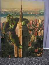 Steve Kaufman - Original Oil Canvas - King Kong Hollywood - Unique - SIGNED