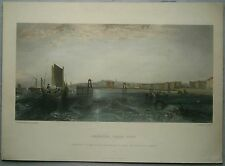 ca.1850 print BRIGHTON, CHAIN PIER, after painting by J. M. W. Turner