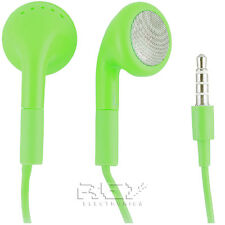 AURICULARES CASCOS CON MICROFONO color VERDE  p/ iPhone iPad iPod MP3 MP4  i175