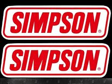 SIMPSON Safety Equipment - Set of 2 Original Vtg Racing Decals/Stickers NHRA