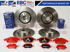 FOR VAUXHALL ASTRA H 2.0 VXR FRONT REAR DRILLED GROOVED DISCS BRAKE PADS EBC RED