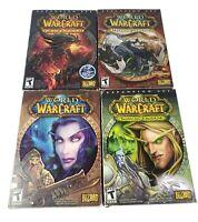 World Of Warcraft Burning Crusade Cataclysm Mists of Pandaria Lot of 4 Expansion