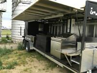 UNIQUE 2016 - 6' x 25' Open Barbecue Smoker Trailer / BBQ Pit Tailgating Trailer