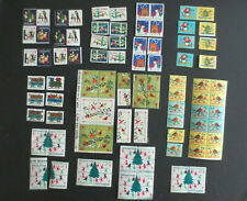 100 Vintage 1960's Christmas Seals Fight TB Unused US Stamp Lot Collection
