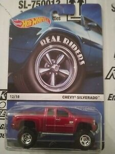 2015 Hot Wheels Real Riders Series Chevy Silverado With Dinged Blister