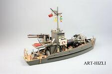 Antike Schiffsmodell 2.WK Kriegsmarine Deutsche Schlachtschiff 57 cm Nazi Fahne