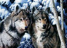 Trefl 10318 Puzzle 1000 Teile Wölfe im Schnee Wolf Isegrim