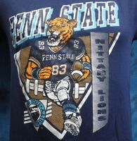 vintage 80s PSU PENN STATE NITTANY LIONS CARTOON T-Shirt SMALL university thin