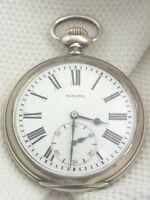 alte  Eisenbahner-Taschenuhr Silber 800/- ca um 1900 Saxonia