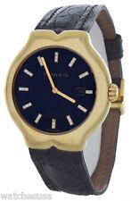 Tiffany & Co Tesoro Unisex Black Dial Black Crock Band Swiss Quartz Watch