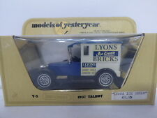 Matchbox Yesteryears Y5 Talbot Van 1927 Lyons Ice Cream Bricks