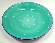 """Epoch Collections Lg 12 3/4"""" Pasta Bowl (s) Kiwi Green & Blue Outside Spinners"""