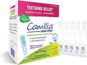 Boiron Camilia - Teething Pain Relief & Irritable Gums - 30 Single Liquid Doses