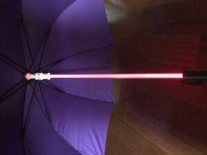 TRON LEGACY PROP LED Lightsaber Umbrella Light Up 7 Color On Shaft - Purple