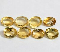 VVS 27.60 Ct Natural Yellow Citrine 8 Pcs Sparkling AAA+ Quality Loose Gemstone