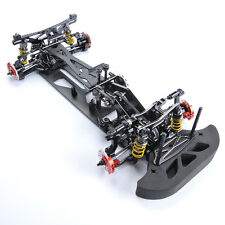 RC 1:10 4WD Drift Racing Car G4 Frame Kit Alloy&Carbon Fiber Body Model Black