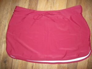 brynn & brooke Swim Skirt Cover Up in Burgundy - Size Large - New With Tag