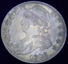 1826 CAPPED BUST HALF DOLLAR 50C, OVERTON 107, R3 - SCARCE, XF/AU, PRETTY TONING