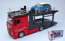 Mercedes Actros 2545 Bisarca Red W/ 1 Car 1:43 Model BBURAGO