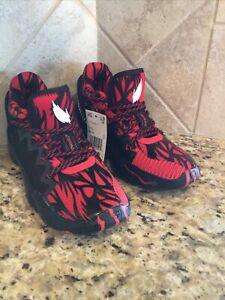 Youth Adidas Black Venom Marvel DON 2 Red Carnage Basketball Shoes