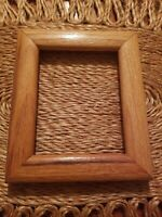 "Vintage Solid Oak Wood Picture Frame Photo Holds 4"" × 5"" Light Oak"