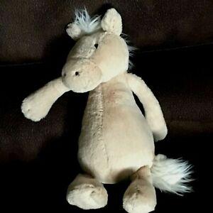 "Jellycat London Plush Horse Tan Brown Stuffed Toy Animal Soft Plush 11.5"" Tall"
