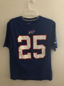 LeSean McCoy Buffalo Bills Nike Shirt Jersey Size Medium Blue