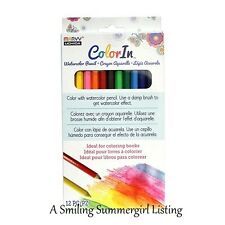12 Colored Pencils Use w/ damp brush to get watercolor effects for paper crafts