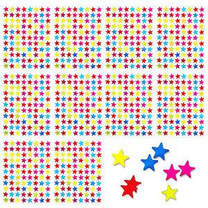 880 x Sternen Sticker Aufkleber Bunt Glänzend Liebe Scrapbooking Kinder