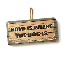 Cute Fun Dog House Home Is Where The Dog Is Sign Gift For Dog Lover