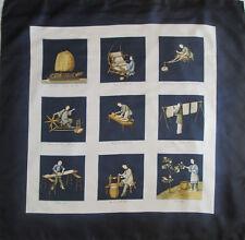 """-Superbe Foulard BURBERRY """"le Japon""""  100% soie  TBEG  vintage scarf  87 x 88 cm"""