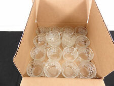 Cut Crystal Punch Bowl Glasses Set of 18 Matching