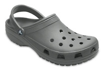 Crocs Mens Coast Clogs Gray Shoes Roomy Fit Grey Sandals Size 13 NEW 204151 014