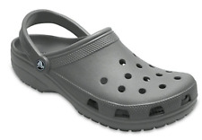 Crocs Mens Coast Clogs Gray Shoes Roomy Fit Grey Sandals Sz 10 NEW 204151 014