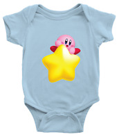 Infant Baby Bodysuit Romper Clothes Jumpsuit shower Gift Kirby Super Star Kawaii