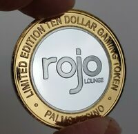 2008 Palms Casino - Rojo Lounge Silver Clad Strike $10 Gaming Token