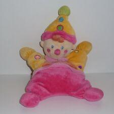Doudou Clown Lutin Kiabi - Rose Jaune