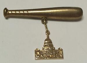 Vintage 1940s WASHINGTON DC Souvenir Baseball Lapel Pin SENATORS - Go Nationals!
